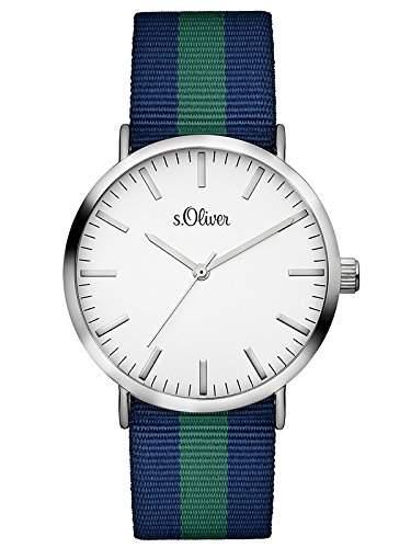 sOliver Unisex-Armbanduhr Analog Quarz Textil SO-3105-LQ