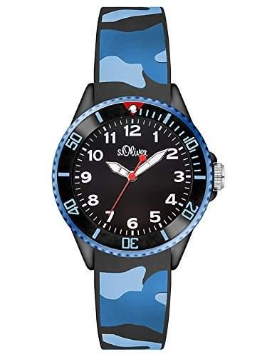 sOliver Jungen-Armbanduhr Analog Quarz Silikon SO-3109-PQ