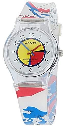 Active Maedchen-Armbanduhr Analog Quarz Plastik ACT-005