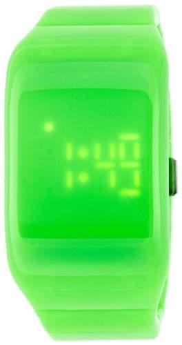 ODM Unisex-Armbanduhr ILLUMI + Digital Kunststoff gruen DD133-9