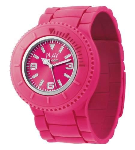 PP-ODM 001-03 Unisex-Armbanduhr Analog Silikon, Rosa