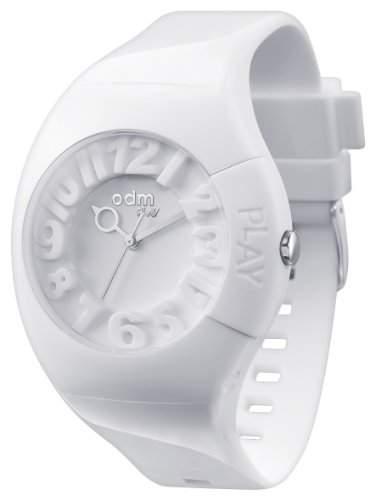 Play Unisex Armbanduhr Quarz-Uhr mit weissem Zifferblatt Analog-Anzeige und weisse Silikon Armband 004-02 PP