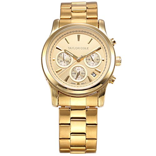 Taylor Cole Analog Quarz Chronograph Golden Edelstahl