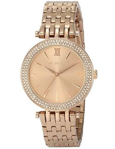Taylor Cole Damen Armbanduhr XL Edelstahl Uhrband Roségold TC002