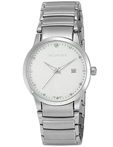 Taylor Cole Damen Quarz Armbanduhr XL Edelstahl Uhrband Datumanzeige TC018