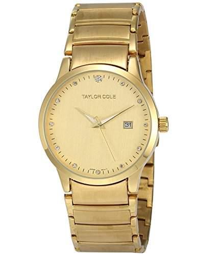 Taylor Cole Damen Quarz Armbanduhr XL Edelstahl Uhrband Datumanzeige TC020
