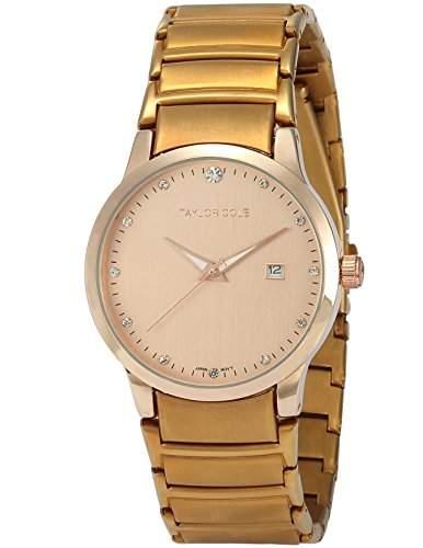 Taylor Cole Damen Quarz Armbanduhr XL Edelstahl Uhrband Datumanzeige TC021