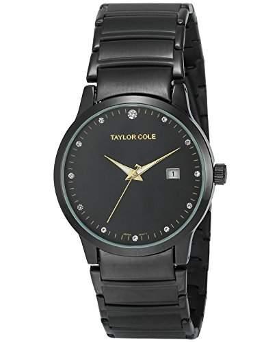 Taylor Cole Damen Quarz Armbanduhr XL Edelstahl Uhrband Datumanzeige TC022