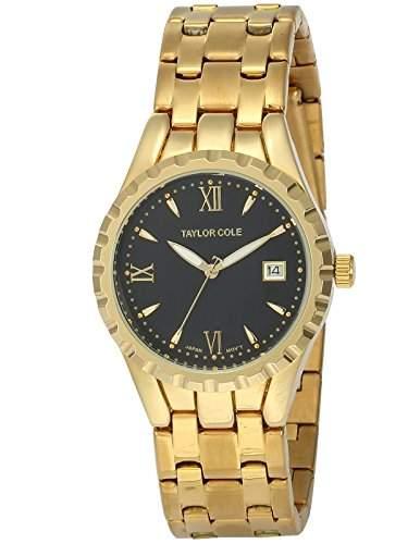 Taylor Cole Damen Uhr XL Quarzwerk Analog Datumanzeige Edelstahl Armband TC023