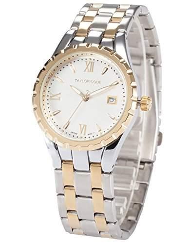 Taylor Cole Damen Uhr XL Quarzwerk Analog Datumanzeige Edelstahl Armband TC025