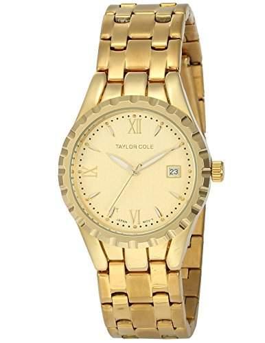 Taylor Cole Damen Uhr XL Quarzwerk Analog Datumanzeige Edelstahl Armband TC027