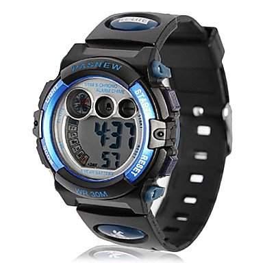 MOFY Kinder Multi-funktional Digital-Dial, Gummiband-LCD-Armbanduhr farbig sortiert , Blau