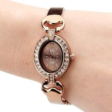 MOFY Frauen-Legierung Analog Quarz Armbanduhr braun