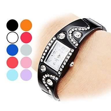 MOFY Damen Armband Stil Legierung Analog Quarzuhr verschiedene Farben , Beere