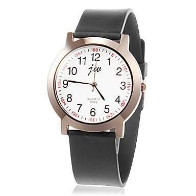 MOFY Frauen Einfache Round Dial Rubber Band-Armbanduhr Quarz Analog verschiedene Farben , Schwarz
