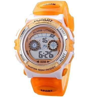 MOFY Children Multifunction LED Digital Sports Wrist Watch 50m Waterproof Assorted Colors , Blau
