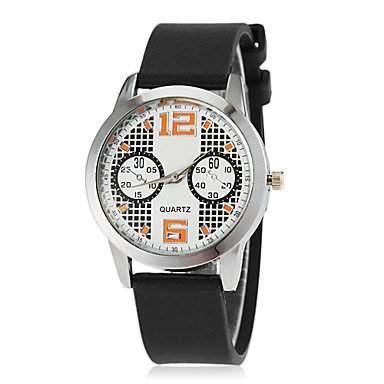 MOFY Kinder lŠssigen Stil Silikonband Quarz-Armbanduhr farbig sortiert , Schwarz