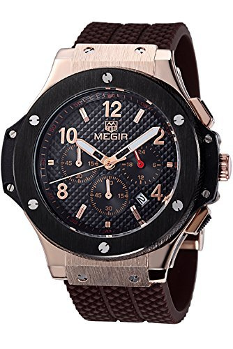 Baogela Herren Quarz Uhren Casual Chronograph Analog Display Armbanduhr