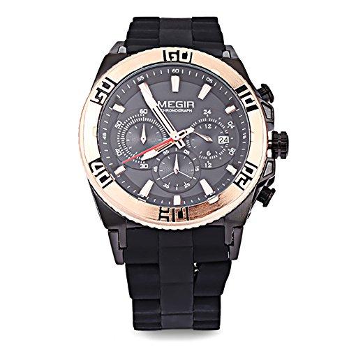 Leopard Shop megir M3009 Stecker Fashion Quarzuhr Luminous Zeiger Chronograph Kalender Wasser Widerstand Multifunktional Armbanduhr 1