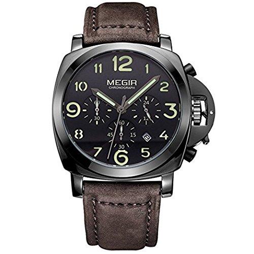 Megir Chronograph Hodinky Herrenuhren Top Marke Luxury Sports Maennlichen Uhren