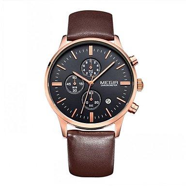megir Maenner Uhren 2015 Geschaeftsuhr des hochwertigen Quarz Uhren und wasserdichten Outdoor Chronograph
