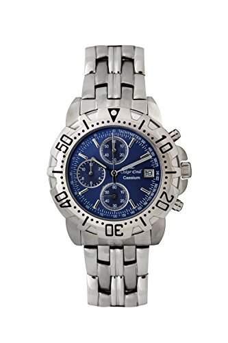 Oskar-Emil Herren-Armbanduhr Analog Quarz Edelstahl Caesium 1119G Blue dial