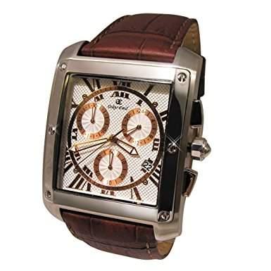Oskar Emil Cambridge Chronograph mit DatumEcht Leder BandEdelstahl gold plattiert