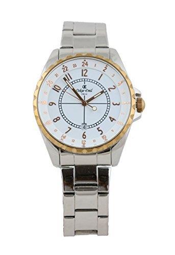 Newport Edelstahl Rosegold Weiss 891414003 Armbanduhr von oskar emil