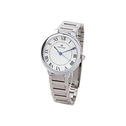 Oskar Emil Brandenburg Unisex classic Uhr aus Edelstahl mit roemisches Zifferblat