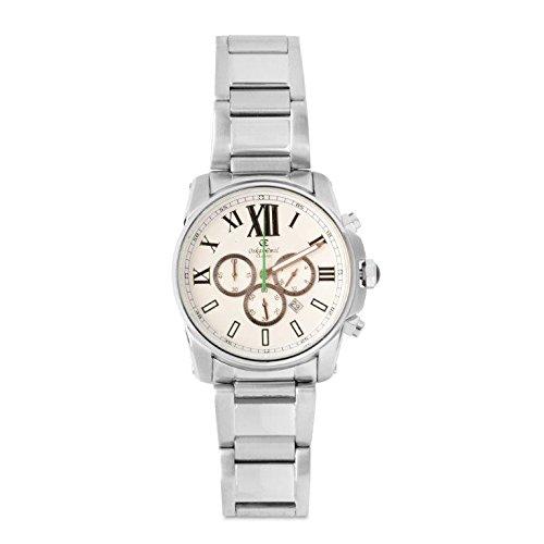 Oskar Emil Sports Herren Armbanduhr Zephyr White Green Chronograph Edelstahl Silber Zephyr White Green