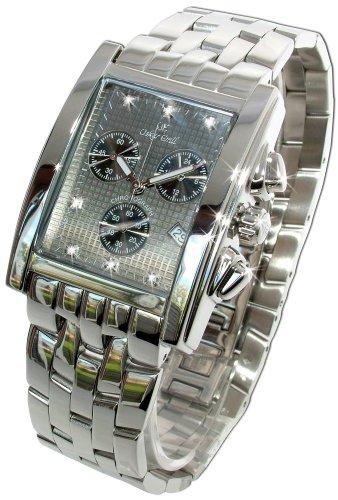 Rodez Edelstahl Chronograph mit Diamanten