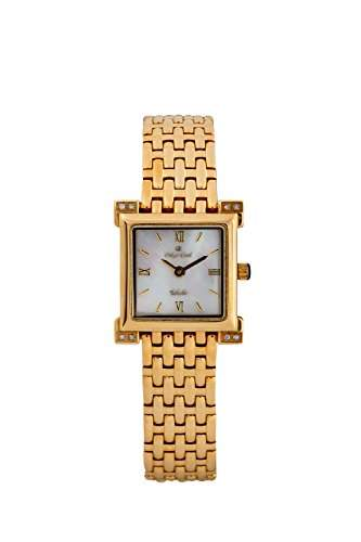 Oskar-Emil Damen-Armbanduhr Analog Quarz Edelstahl beschichtet Toledo Gold