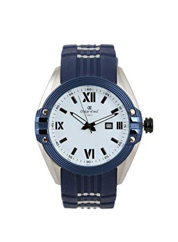Tuscon blau weiss Armbanduhr von oskar emil