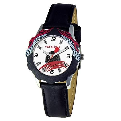 Red W002090 Bubble-Jungen-Armbanduhr-Quarz, Paedagogisch wertvoll-Analog Leder Schwarz