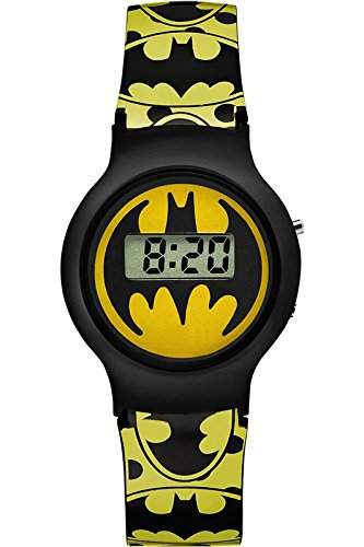 Warner Bros-bm-01-Batman-Zeigt Kinder-Quartz Digital-Zifferblatt Gelb Armband Kunststoff gelb