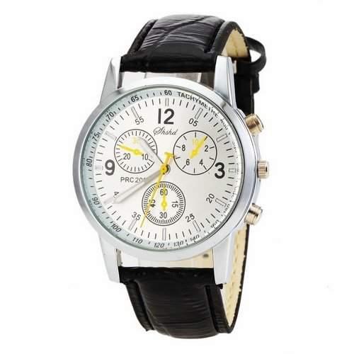 Herren: Freizeit-PU-Leder Analog Quarz-Armbanduhr Schwarz