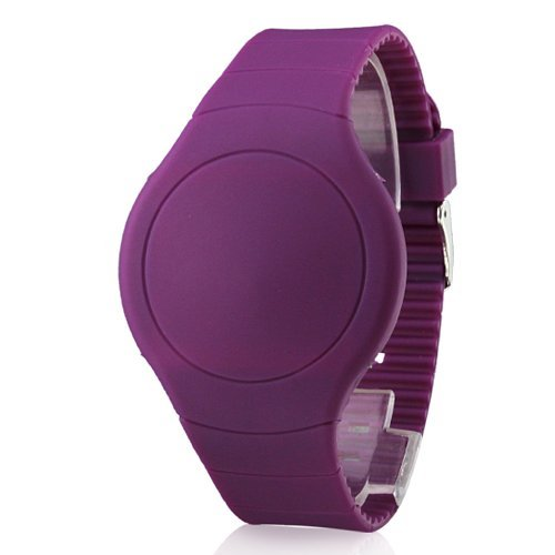 Unisex Herren Screen Kalender rote LED Digital Purple Lila