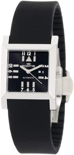 Fortis Damen 6292071 SI01 Platz SL Automatic Date Silikon Armbanduhr