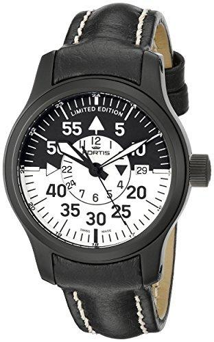 FORTIS Herren 672 18 11 L B Flieger 42 Hartschale Schwarz Cockpit Armbanduhr by Fortis