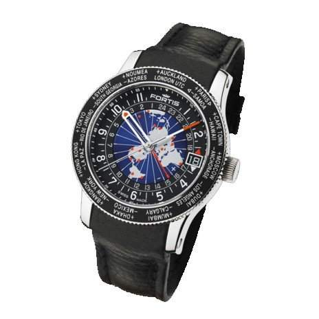 Fortis Herrenuhr Aviation B-47 World Timer GMT Limited Edition Automatik 6742111 L01