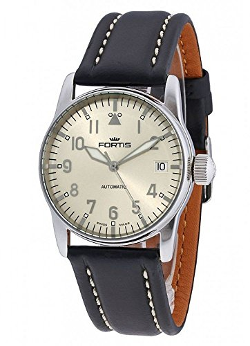 Fortis Aviatis Flieger Lady Automatic Stainless Steel Womens Strap Watch Calendar 621 10 12 L