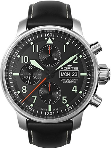 Fortis Aviatis Collection Flieger Pro Chronograph 705 21 11 L 01 Herren Automatikchronograph Massives Gehaeuse