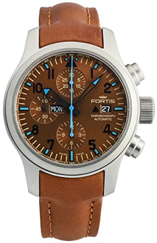 Limited Edition Fortis B 42 Aeromaster Blue Horizon Automatic Chrono Mens Watch Date 656 10 95 L 28