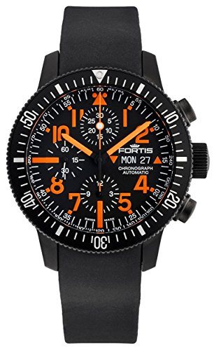 Limited Edition Fortis B 42 Black Mars 500 Automatic Chrono Mens Watch Calendar 638 28 13 K