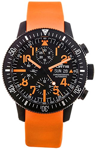 Limited Edition Fortis B 42 Black Mars 500 Automatic Chrono Mens Watch Calendar 638 28 13 SI 19