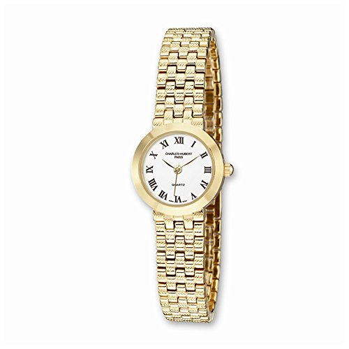 Damen Charles Hubert Satin Gold Finish Messing 25mm beobachten Ladies Charles Hubert Satin Gold Finish Brass 25mm Watch