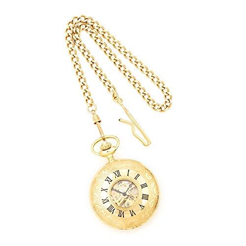 Charles Hubert Gold Finish weisses Zifferblatt Taschenuhr Charles Hubert Gold Finish White Dial Pocket Watch