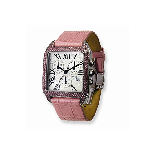Moog Fashionista Swarovski Case Rosa Strap Chronograph Moog Fashionista Swarovski Case Pink Strap Chronograph Watch