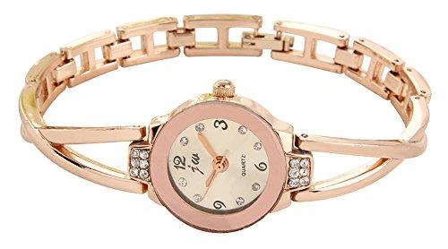 KAIKSO IN Nizza Suess Frauen Rose Gold ueberzogene Rhinestone Armband Quarz analoge Armbanduhr