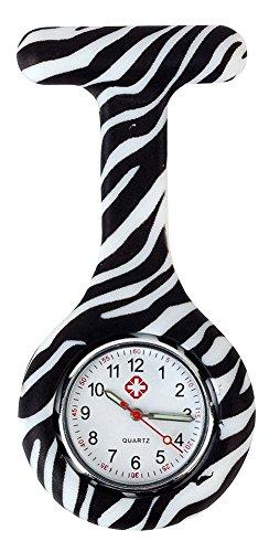 KAIKSO IN Bunte Silikon Edelstahl runden Zifferblatt Quarz Fob Quarz Taschen Krankenschwester Uhr Nettes M